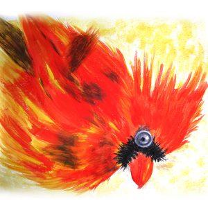 Crazy Bird 10″x 10″