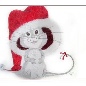 Santa Mouse 9″x 12″