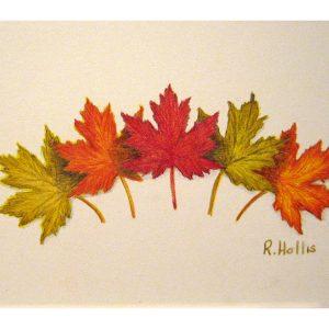 Oak Leaves 5″x 7″
