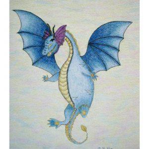 Iggy the Dragon 11″x 14″