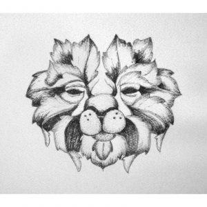Leaf Lion 4″x 6″