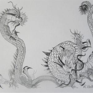 Dragon Twins 8 x10