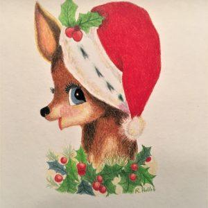 Santa Deer 8×10
