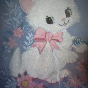 White Kitten 8×10